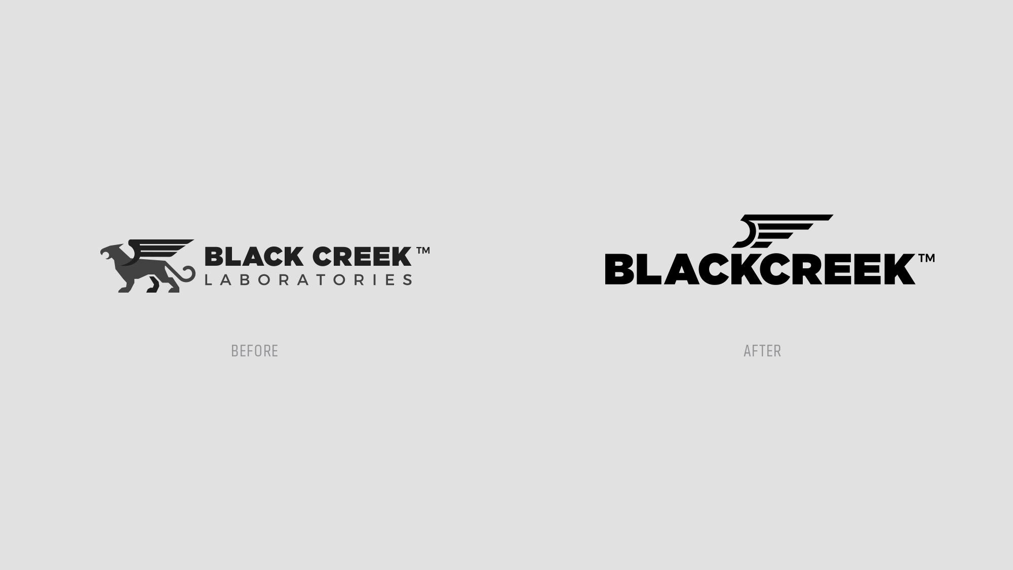 BlackCreek Firearms Before & After Logo Design