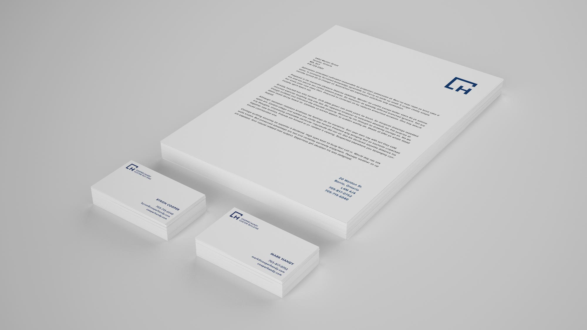 Construction Letterhead & Business Card Design