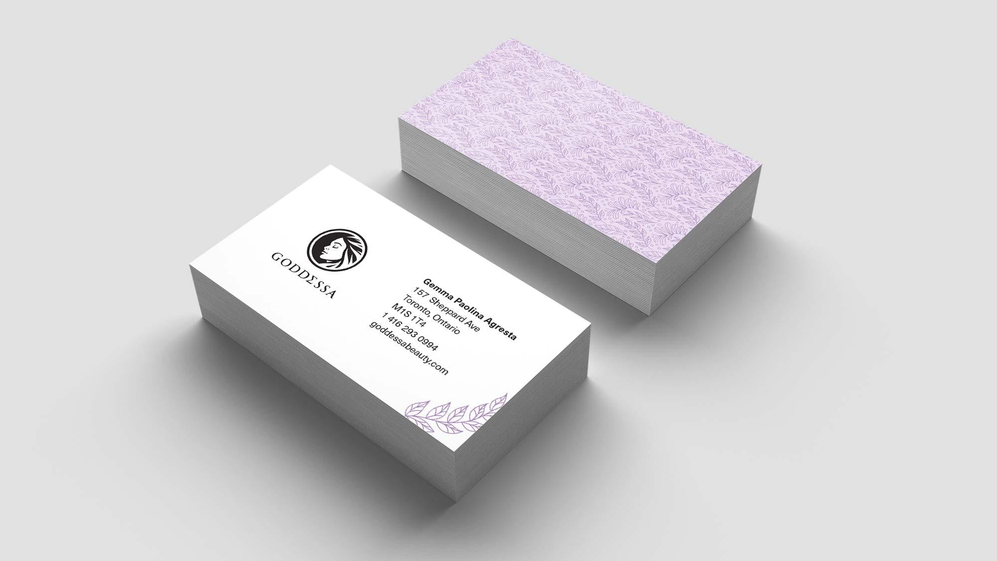 Health & Beauty Business Card Design