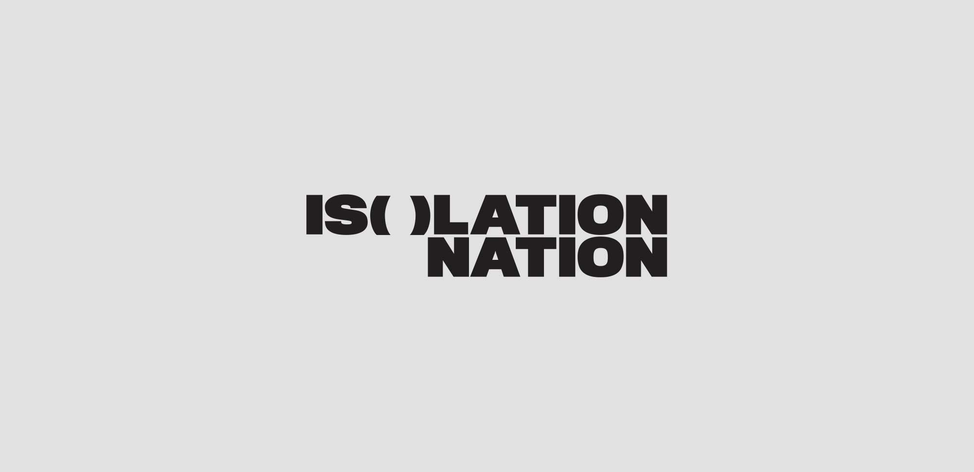 Isolation Nation Logo & Identity Design