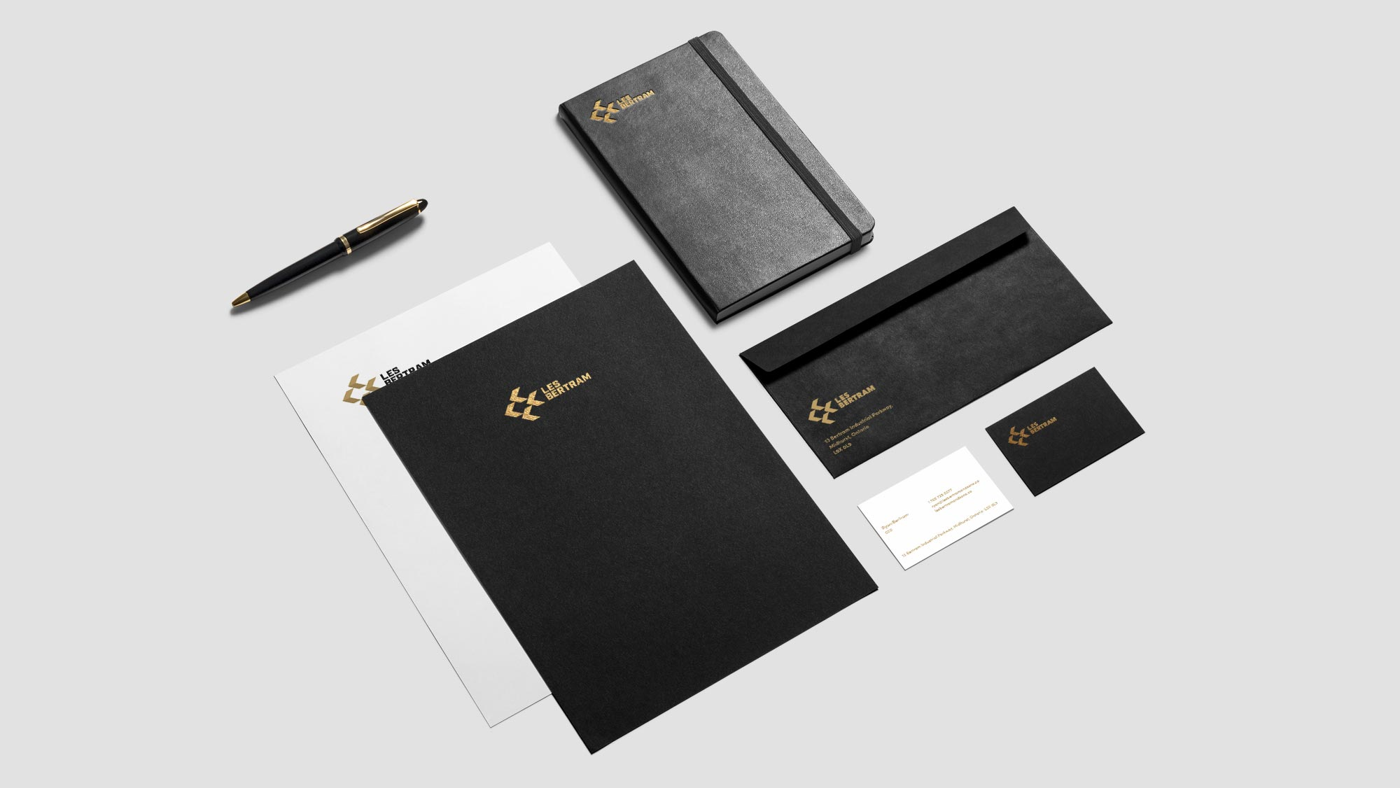 Construction Letterhead, Business Card & Stationery Design