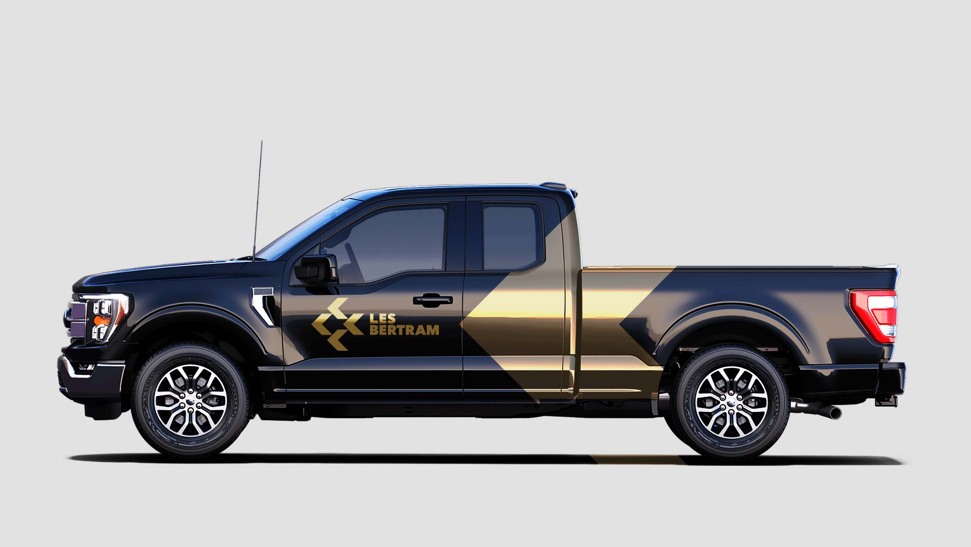 Construction Truck Vehicle Wrap Design