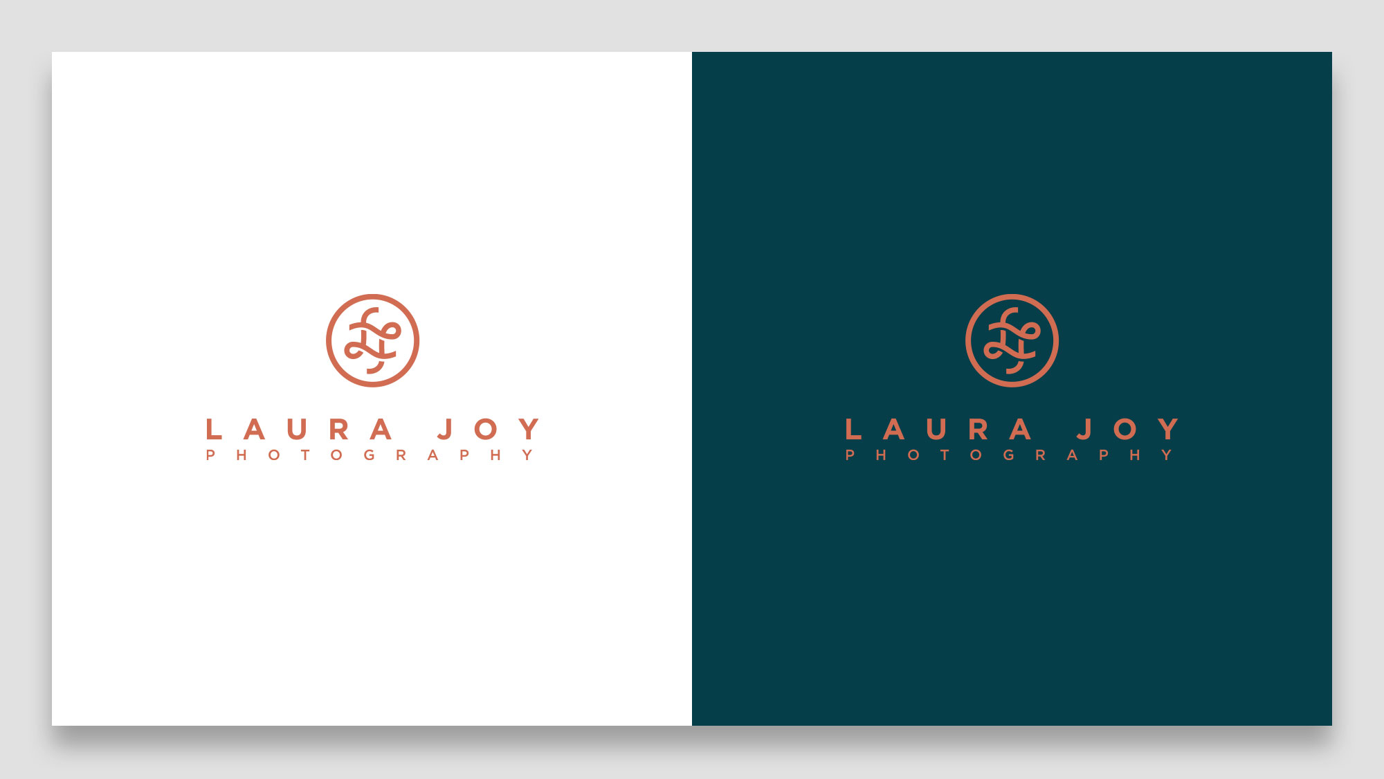 Laura Joy Photography Logo on Brand Colours