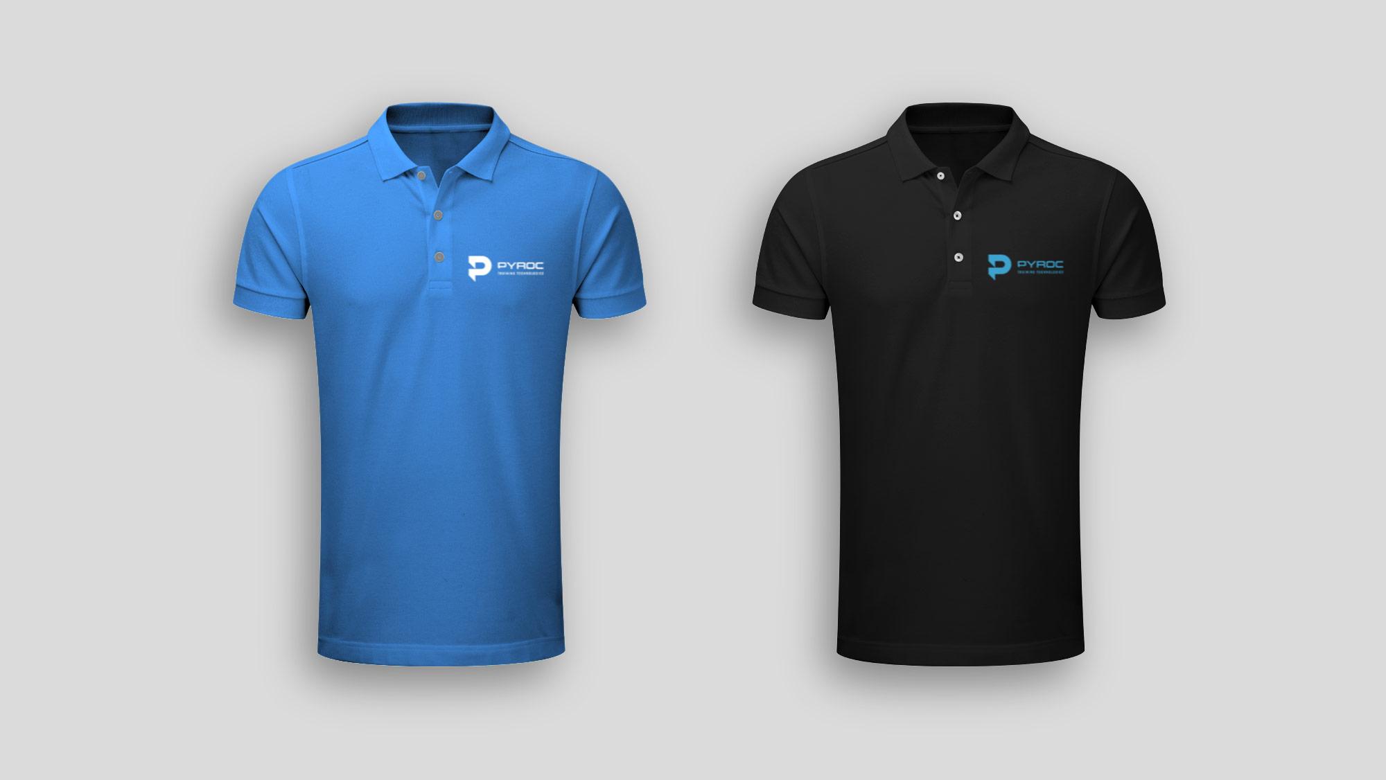 Blue & Black Golf Shirt Design